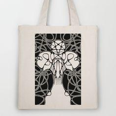Advocatus Diaboli Tote Bag by Johannes Kamikaze - $18.00
