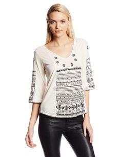 Lucky Brand Women's Redondo Embroidered Top, Nigori, Medium Lucky Brand http://www.amazon.com/dp/B00GD4K87C/ref=cm_sw_r_pi_dp_1UX0tb036D838SQV