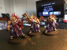 Warhammer: Age of Sigmar Retributors Purple/silver Scheme