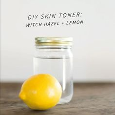 Squeeze 1/4 c lemon juice  into 1/2 c Witch Hazel  apply liberally in circular motions with a cotton ball.