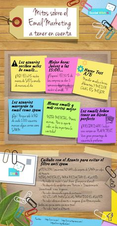 Mitos sobre el Email Marketing a tener en cuenta - Infografía | Social With It | Social Media Blog