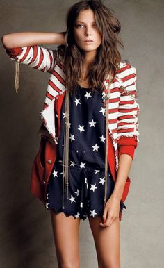Love the star romper; looking for next year's july 4th outfit