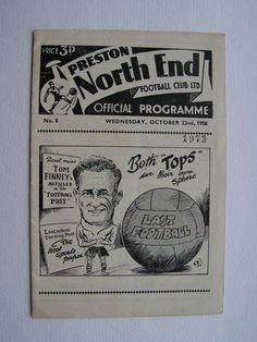 Vintage 1958 Preston North End Versus South African XI Football Soccer Programme Friendly Match by VintageBlackCatz on Etsy