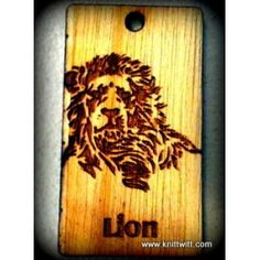 """Wooden Name Tags, #Lion - Use promo code """"PINTEREST"""" for 50% off your order!"""