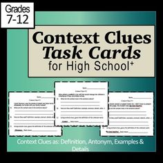 Task Cards for secondary students.