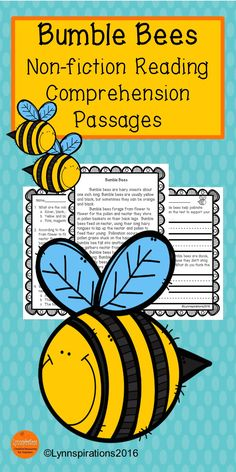 This reading comprehension passage  is great for teaching the science of  Bumble Bees for grades 1-3. It can be used in your class to help your students with reading comprehension skills as well as with test taking skills. It is part of the Insects Bundle.  Please take a preview peek!   Included: An engaging passage with 4 multiple choice questions and 2 written responses.