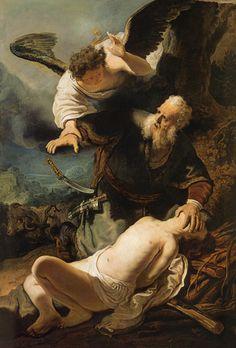 Rembrandt van Rijn - Sacrifice of Isaak