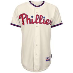 ^^ Seeking out Philadelphia Phillies Alternate Ivory Authentic Cool Base On-Field MLB Jersey 40 Majestic | Apparels Product
