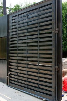 Woven Metal Gate; fantastic! Not too masculine, nor is it too feminine.