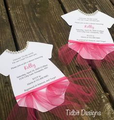 Cute girls baby shower invitations