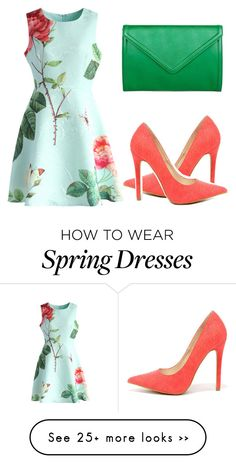 """Spring fever"" by fashion-mom11 on Polyvore featuring Chicwish, Shoe Republic LA and Isaac Mizrahi"