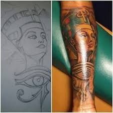Queen Nefertiti Tattoo 47