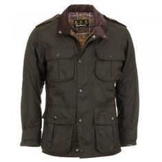 Barbour Trooper Waxed Jacket - Olive