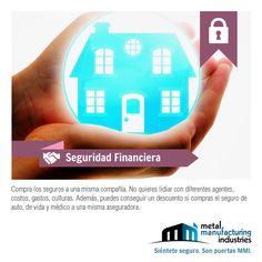 Hoy para tu #SeguridadFinanciera recomendamos comprar tus seguros a una misma compañía para evitar lidiar con diferentes empresas y formas de trabajar (hasta podrías conseguir un descuento) #SeguridadFinanciera