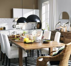 IKEA STORNAS dining table with HENRIKSDAL chairs