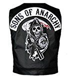 Get This Special Offer #4: Sons Of Anarchy Official Vest with Patches Officially Licensed Jax Teller Samcro- Size Extra Large