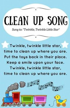 Brilliant - combine a movement song with clean-up time to keep the grumbles at bay.