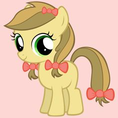 Carmel Apple is a little filly who loves hard work. She is always trying to help and do her best. She just loves visiting Farmers Markets and ranches. Her favorite season is Fall and her favorite food is Carmel Apples. She can't wait until she gets her cutie mark.