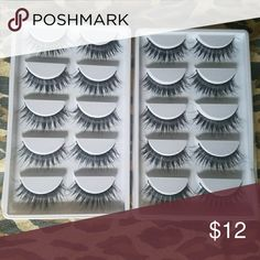10 pairs of  eyelashes PLEASE READ BEFORE PURCHASING   This listing is for:  ✔- 10 pairs of Eyelashes   Eyelashes can be reused multiple (20+) times if taken care of properly.  These eyelashes are beautiful   Great for any event  GLUE NOT  INCLUDED   ➡COMMENT IF YOU WOULD LIKE MORE THEN 1 PAIR BEFORE PURCHASING ⬅  I GIVE DISCOUNTS ON BUNDLES  ✔SHIP WITHIN 24 HOURS  ✔GREAT QUALITY  ✔PRICE IS FIRM  PLEASE NOTE THAT I DO NOT HAVE CONTROL OVER THE TRANSIT SHIPPING TIME. Makeup False Eyelashes