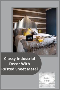 Visiting pickledbarrel.com will provide you with all the modern and rustic farmhouse ideas you've been looking for. Find unique ideas for your home decor and more! These uses for rusted sheet metal will have your home standing out. Farmhouse Interior, Modern Farmhouse Decor, Farmhouse Ideas, Rustic Farmhouse, Diy Home Decor Projects, Fall Home Decor, Home Decor Kitchen, Sheet Metal Backsplash, Reclaimed Wood Furniture