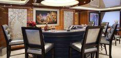 Art Deco Designed Bar Upper Salon Trinity MY/Lady Linda #Luxury #Superyacht #BestofYachting Selection