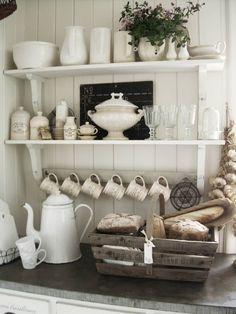 Ideas for kitchen shelves kitchen shelf decor best country kitchen shelves ideas on country creative of . ideas for kitchen shelves kitchen shelf French Country Living Room, Country Farmhouse Decor, French Country Decorating, Farmhouse Style, Country Style, Farmhouse Design, French Decor, Rustic French, French Cottage