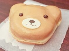 donut bear! with white chocolate nose?