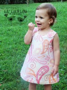 A-Line Dress and Ruffled Bloomers Set. Rush Orders available. Lil' Liza Lou has all handmade products, and is proudly made in the USA. Evelyn learned to sew when her daughter was born. She has started a PINK Program Ministry, that gives handmade embroidered kimonos to preemie babies.