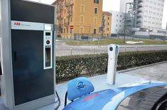 First EV charging station at ABB Italy