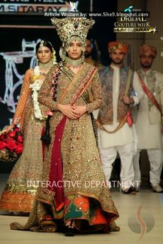 Fahad Hussayn Bridal Collection at TBCW-2014 - She9 | Change the Life Style