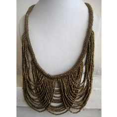 Gold Necklace/Statement Necklace/Bohemian by FootSoles on Etsy, $29.10