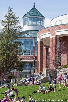 Belk Library and Plemmons Student Union on Appalachian State's campus.