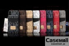 MK iphoneXケース カードポケット付き アイフォンXカバー マイケルコース iphone8 iphone8PLUS カバー 薄型