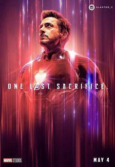 "Avenger End Game: Tony Stark/Iron Man Wallpaper - ""One Last Sscrifice. Marvel Dc Comics, Poster Marvel, Marvel Avengers, Hero Marvel, Films Marvel, Avengers Cast, Marvel Fan, Captain Marvel, Captain America"