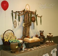 Love this... Just Minus the Pooh... Love a good Rustic theme!!   Winnie the Pooh Baby Shower #winniethepooh #babyshower