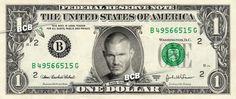 Randy Orton on Real Dollar Bill $1 Celebrity Bill Custom Cash Money WWE