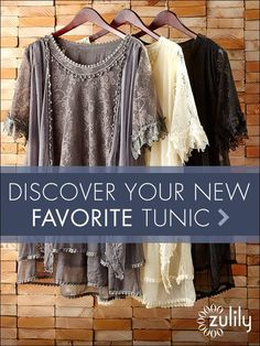 "Sign up today to discover Stylish Tunics at prices up to 70% Off! Huge selection with new styles added each and every day! Build your comfy-cozy wardrobe at <a href=""http://zulily.com"" rel=""nofollow"" target=""_blank"">http://zulily.com?utm_content=buffer0fa1e&utm_medium=social&utm_source=pinterest.com&utm_campaign=buffer</a>! http://www.zulily.com/womens-tunics/?tid=23351778&utm_content=bufferf8f54&utm_medium=s…"