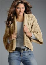 Women's Hand Knitted Coat XS,S,M,L,XL,XXL,XXXL Wool Hand Knit cardigan d74