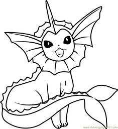 Print vaporeon eevee pokemon evolutions coloring pages