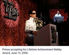 Prince Received The Webby Lifetime Achievement Award on June 12 2006