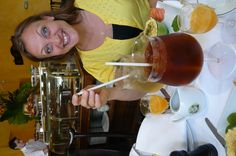 Having FANTASTIC thé Glacé (Iced tea) at Mariage Freres in Paris!