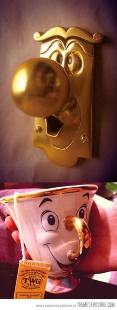 Disney Characters in Real Life…    I want one!! Chip would be the perfect addition to all my tea!