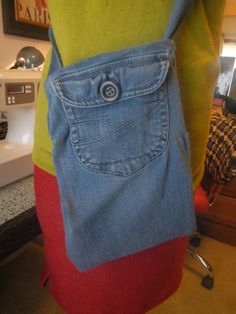 Denim purse from old jeans