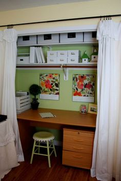 1000 Images About Office In A Closet On Pinterest