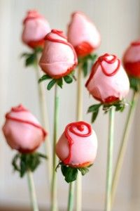 Chocolate Dipped Strawberry Roses