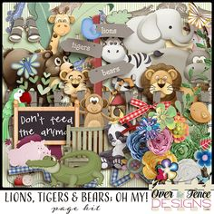 Personal Use :: Kits :: Lions Tigers & Bears; Oh My! Page Kit