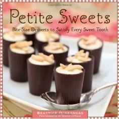 book full of bite size desserts