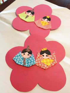 Child Day, Girl Day, Diy And Crafts, Crafts For Kids, Arts And Crafts, Hina Matsuri, Japan Crafts, Japanese Paper, Washi