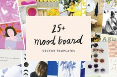 25+ Mood Board Vector Templates by June Letters Studio on Creative Market