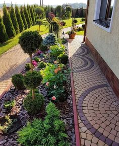 Back Garden Landscaping, Small Front Yard Landscaping, Outdoor Landscaping, Outdoor Gardens, Back Garden Design, Backyard Garden Design, Landscape Bricks, Landscape Design, Amazing Gardens